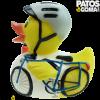 pato de goma ciclista