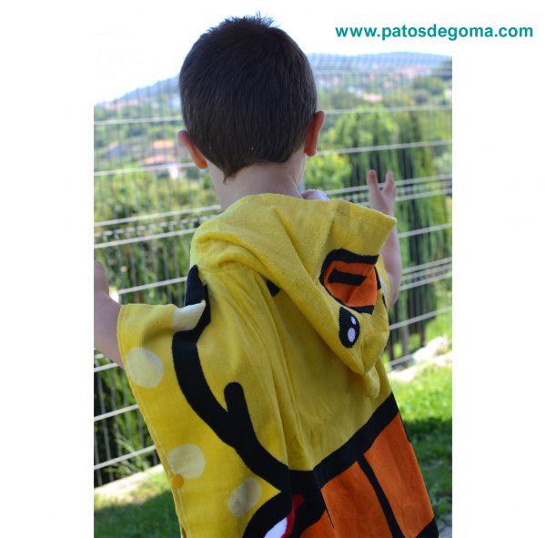 poncho infantil con capucha patito parte de lateral 2