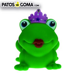 pato de goma rana reina