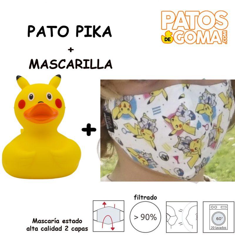 pato pika + mascarilla
